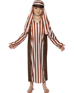 Dětský kostým pastýř hnědo-bílý