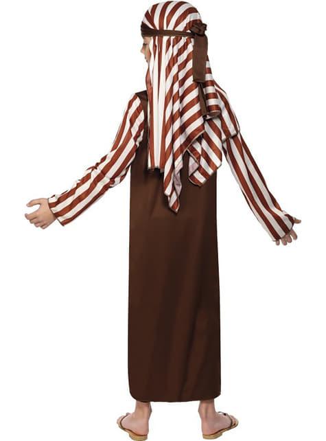 Schäfer Kostüm Braun und Weiß für Jungen