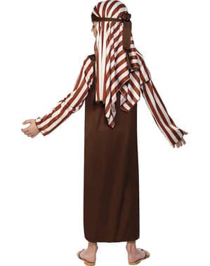 Costum de păstor maro și alb pentru băiat