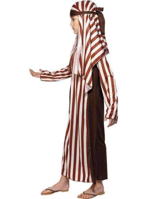 Disfraz de pastor marrón y blanco para niño - original
