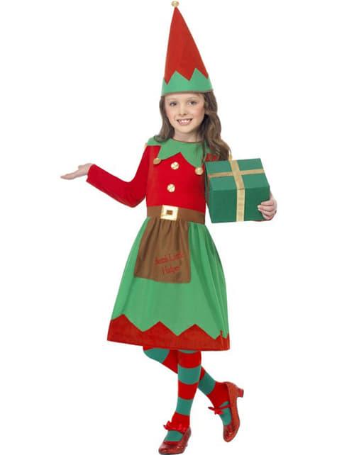 Fato de pequena ajudante de Pai Natal