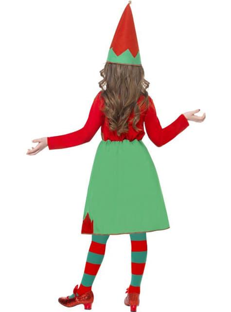 Disfraz de pequeña ayudante de Santa - niña