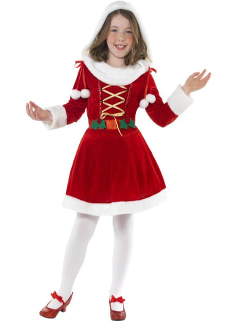 Fato de pequena Miss Pai Natal