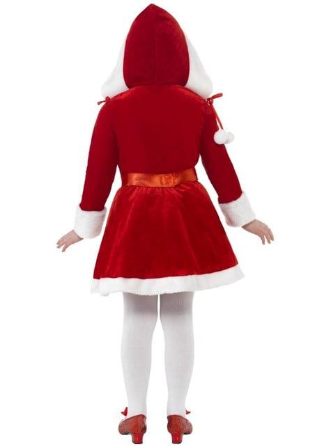Disfraz de pequeña Miss Santa - niña