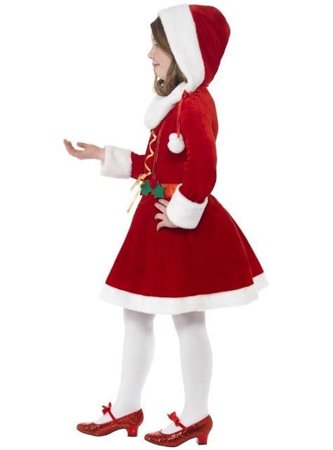 Disfraz de pequeña Miss Santa - original