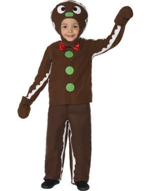 Disfraz de galleta de jengibre infantil