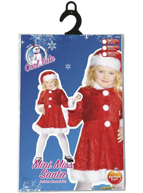 Fato de Mãe Natal encantadora para menina