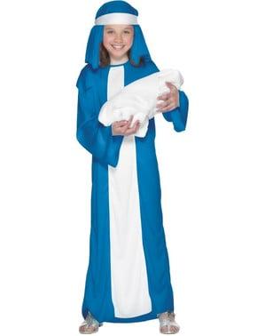 Fato de Virgem Maria económico para menina