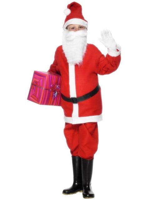 Weihnachtsmann Kostüm günstig für Jungen