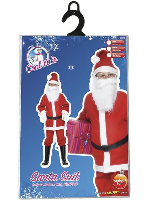 Costum de Moș Crăciun economic pentru băiat