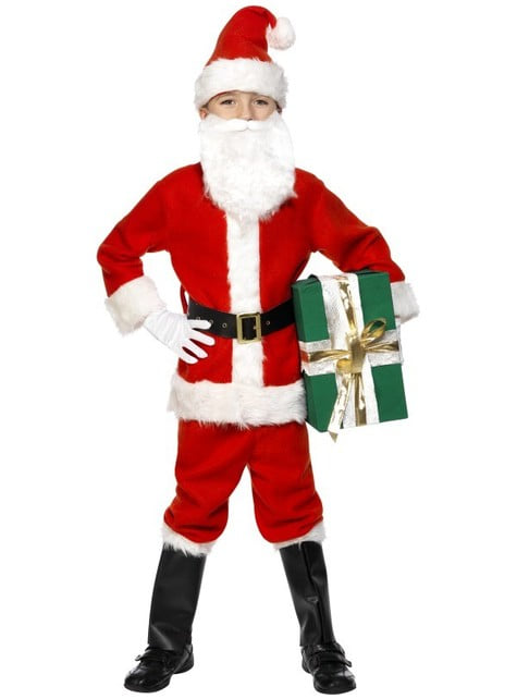 Fato de Pai Natal deluxe infantil