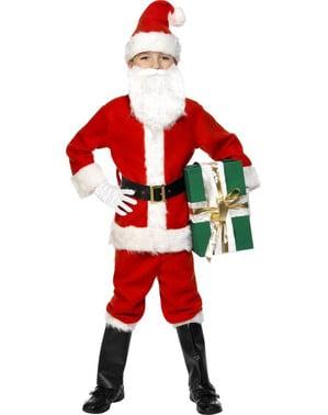 Déguisement de Père Noël  pour enfant deluxe