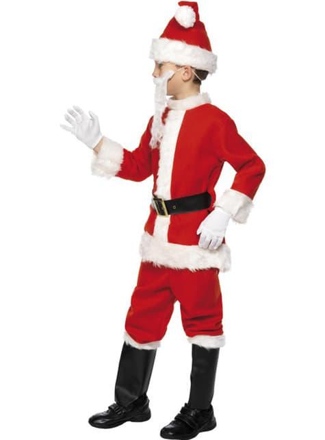 Disfraz de Santa Claus deluxe infantil - hombre