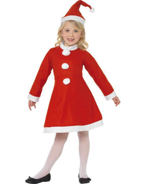 Little Miss Claus Child Costume