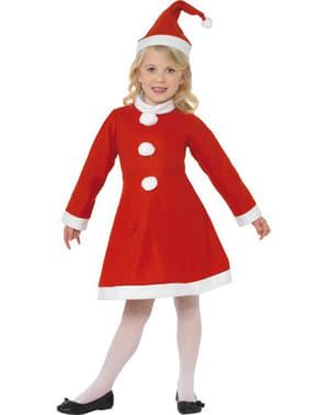 Μικρή κοστούμι παιδιών Miss Claus