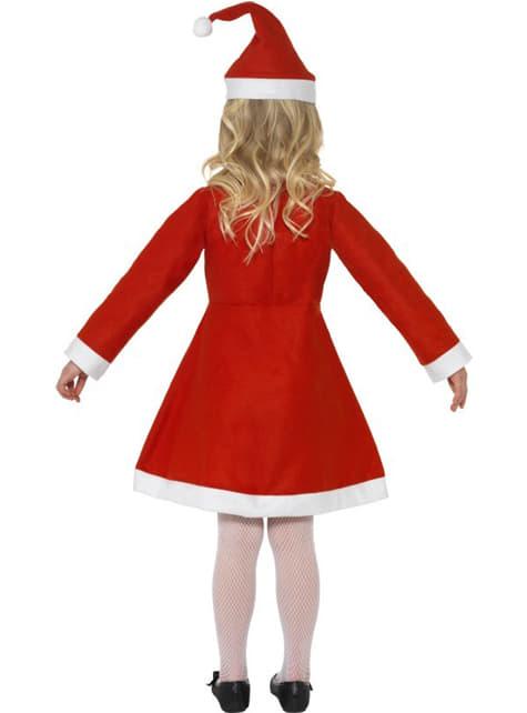 Disfraz de pequeña mamá Noel - niña