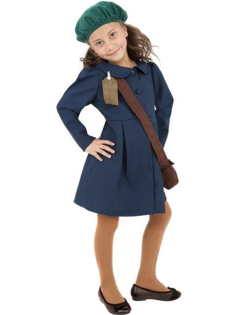 40er Jahre Kostüm für Mädchen blau