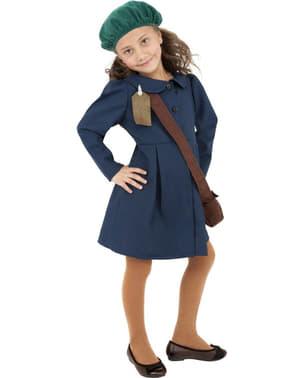 Costum de fetiță anii 40 albastru