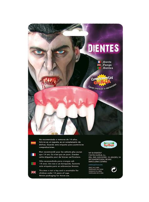 Dentadura colmillos de vampiro