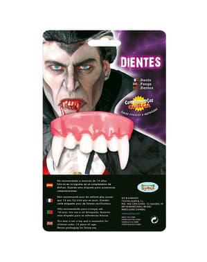 Vampir Gebiss mit Fangzähnen