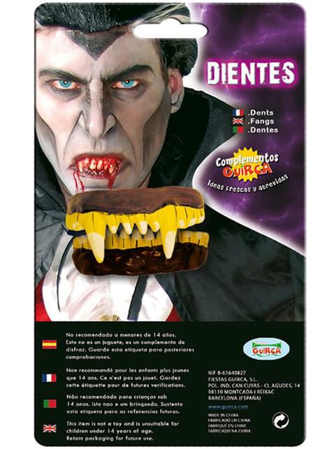 Dentadura completa dorada de vampiro