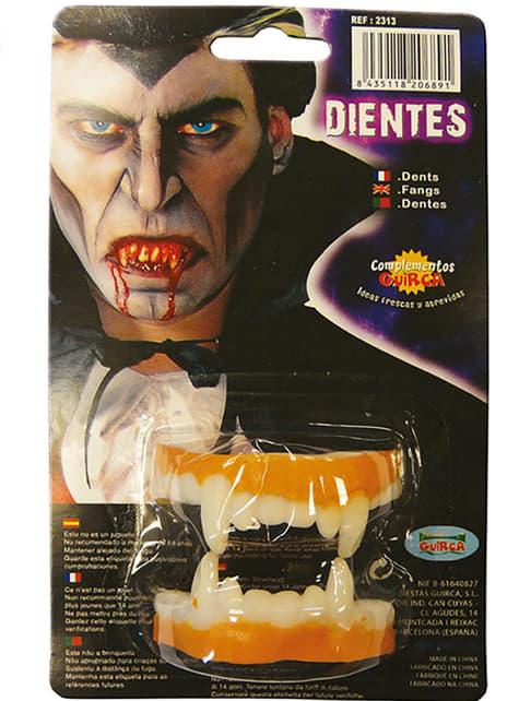 Dentadura completa de vampiro