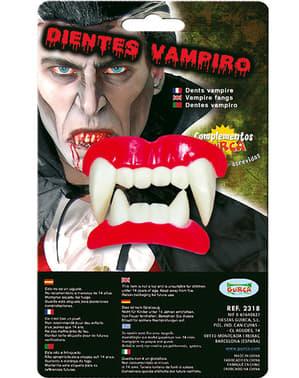 Dentadura completa com caninos de vampiro