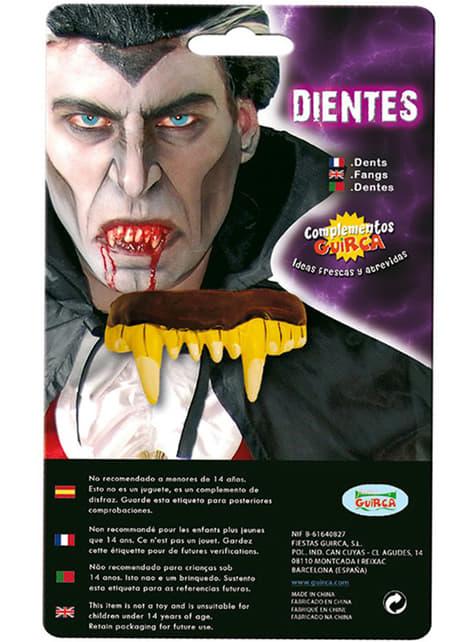 Dentadura dorada de vampiro