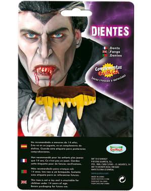 Vampire Gold False Teeth