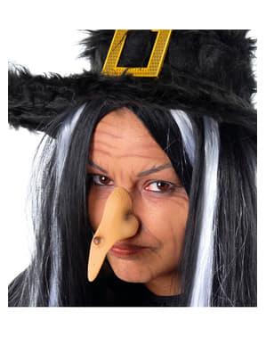 Nariz de bruxa com verruga