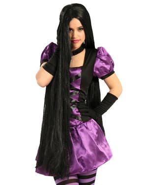 Изключително дълга черна перука