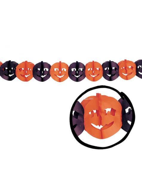 Łańcuch dynie pomarańczowe i czarne