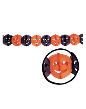 नारंगी और काले कद्दू माला