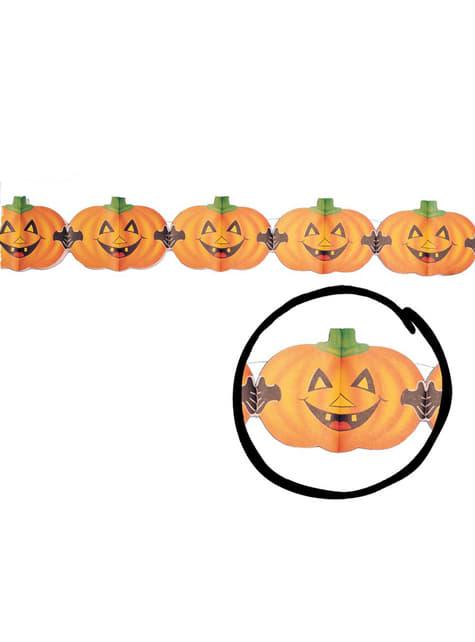 Łańcuch dynie z kłami Halloween
