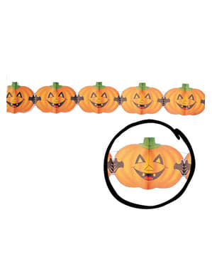 Halloween Pumpkins with Fangs Garland