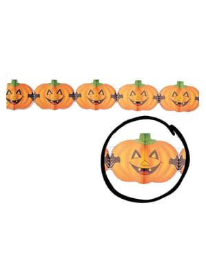 Labu Halloween dengan Garland Fangs