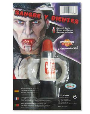 Kit Blut und Vampir Zähne