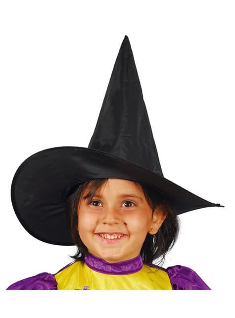 Pălărie de vrăjitoare neagră pentru fată