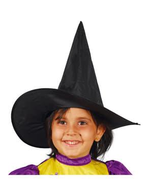 Dívčí čarodějnický klobouk černý