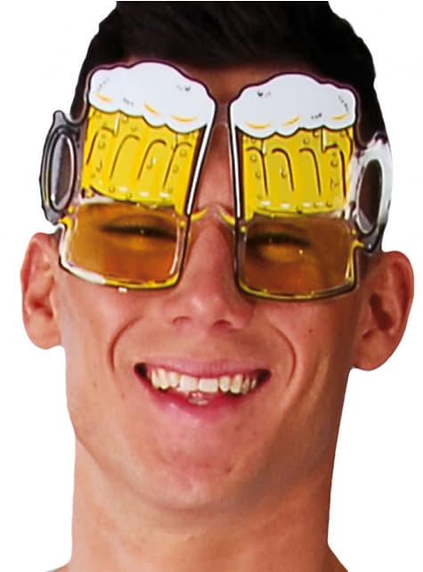 Okulary kufle piwa