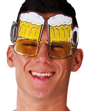 Occhiali brocca di birra