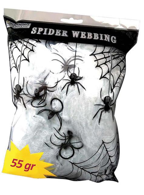 Grande toile d'araignée phosphorescent