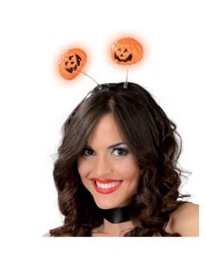 Headband pumpkin with light