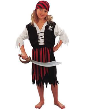 Große Piratin Kostüm für Mädchen