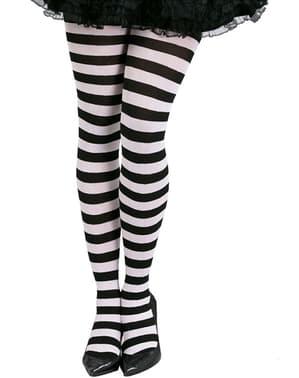 שחור-ורוד פסים גרביים