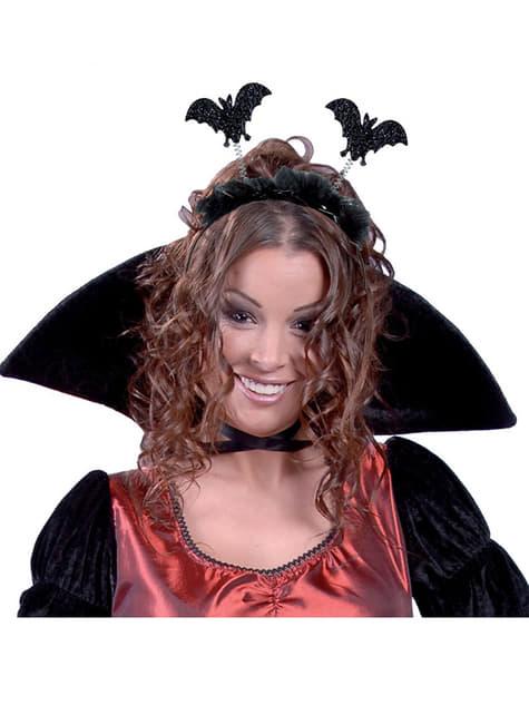 Čelenka s netopýry černá