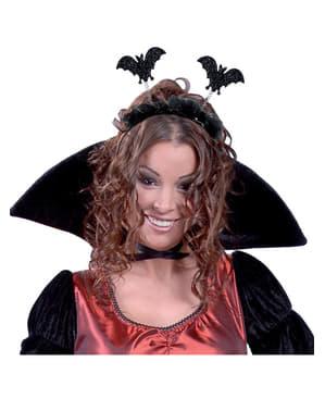 Haarband met zwarte vleermuizen