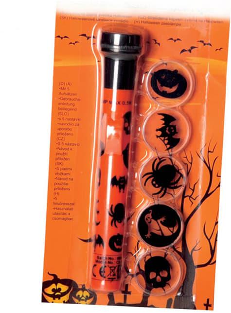Latarka Projektor Halloween różne obrazki z cieni