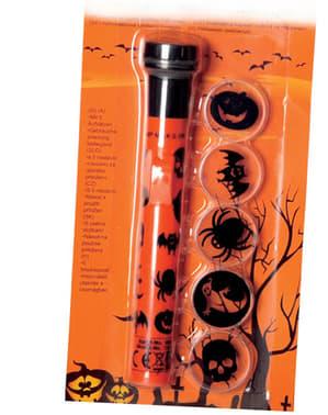 Halloween Taschenlampe mit Figurenschatten