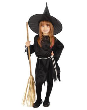 Fato de bruxa malvada tradicional para menina